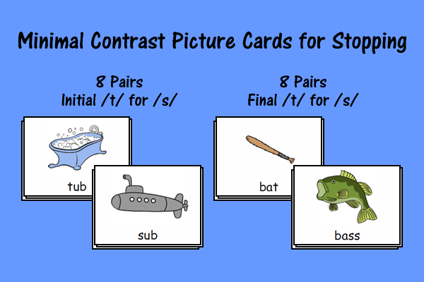 Minimal Contrast Picture Cards For Stopping