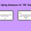 """Spring Sentences For """"SH"""" Sound"""