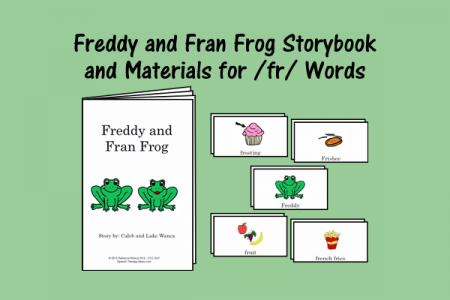 Freddy and Fran Frog Storybook and Materials for /fr/ Words