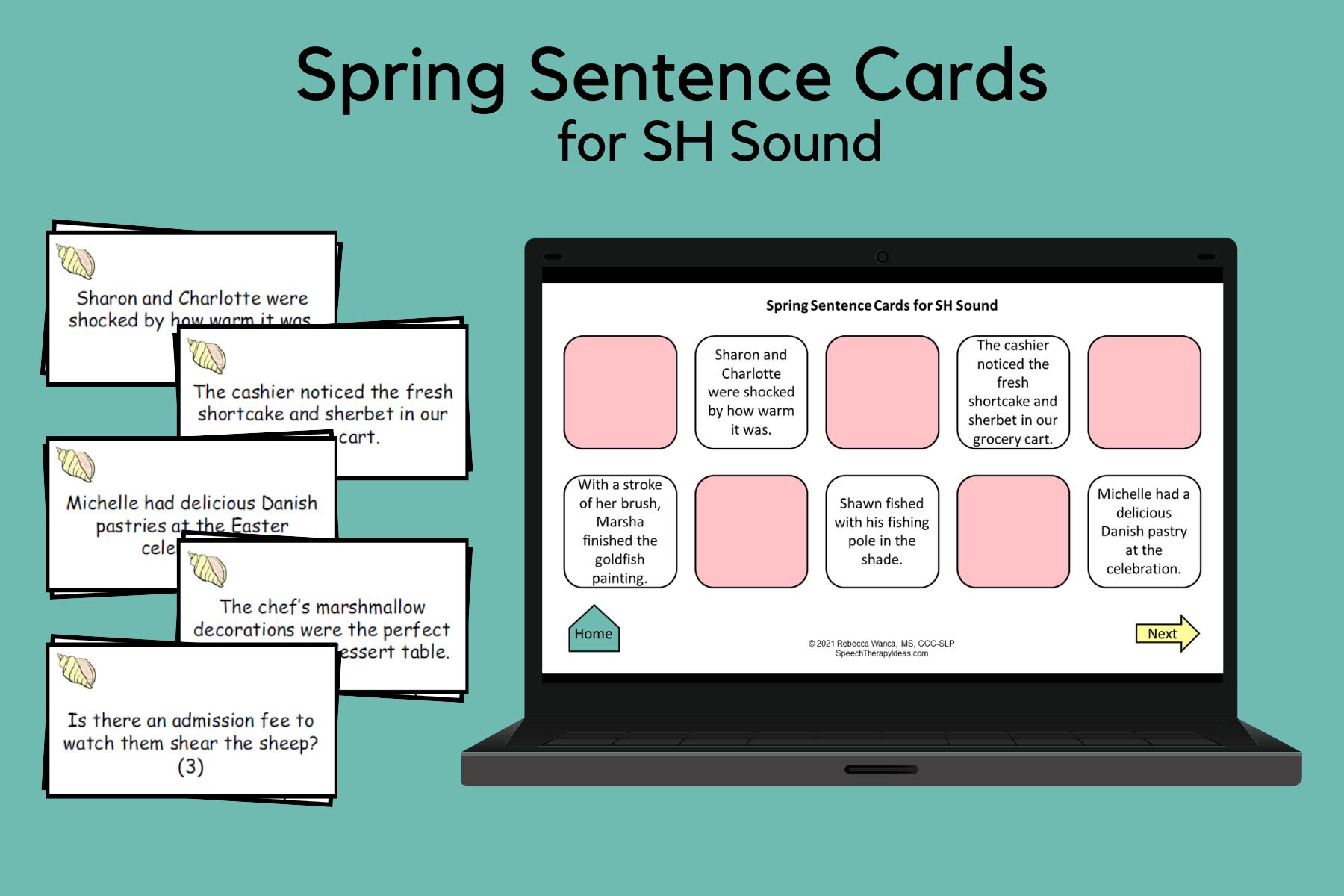 Spring Sentences for SH Sound