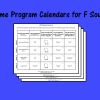 Home Program Calendars for F Sound