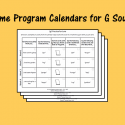 Home Program Calendars For G Sound