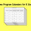 Home Program Calendars for K Sound