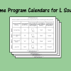 Home Program Calendars for L Sound