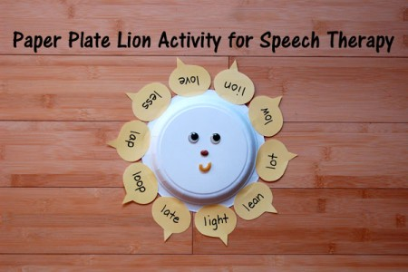 Paper Plate Lion Activity for Speech Therapy