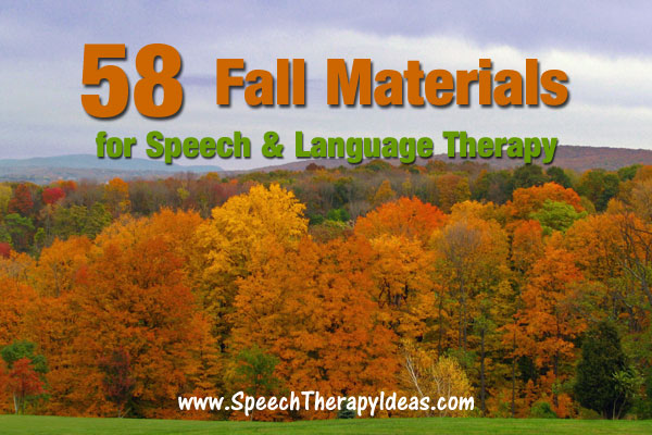 Fall Materials for Speech and Language Therapy