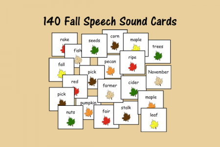 140 Fall Speech Sound Cards
