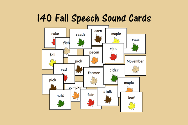 Fall Speech Sound Cards