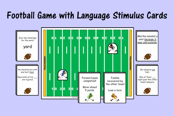 Football Game with Language Stimulus Cards