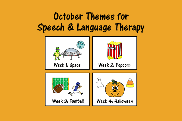 October Themes for Speech and Language Therapy