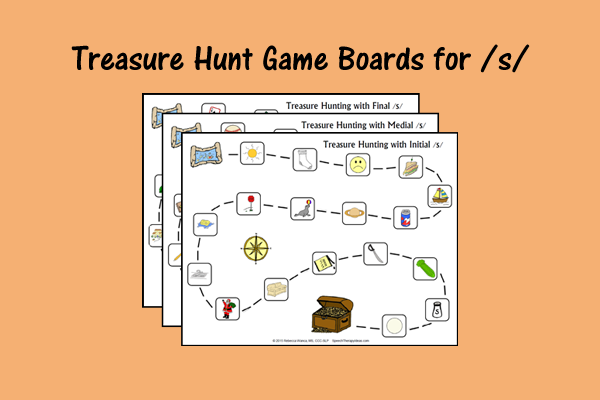 Treasure Hunt Game Boards For Initial, Medial, And Final S