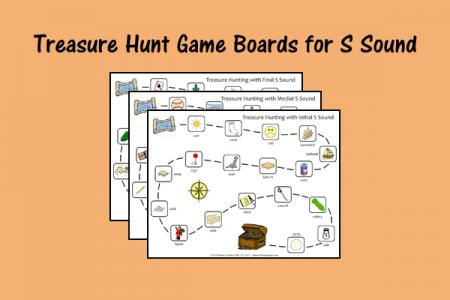 Treasure Hunt Game Boards for S Sound