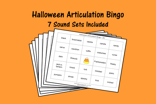 Halloween Articulation Bingo