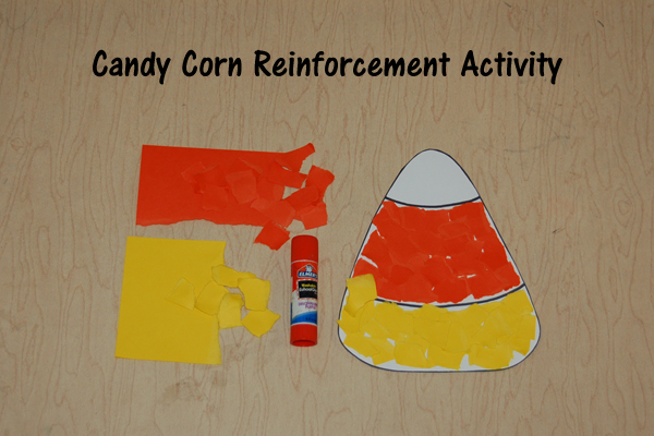 Candy Corn Reinforcement Craft