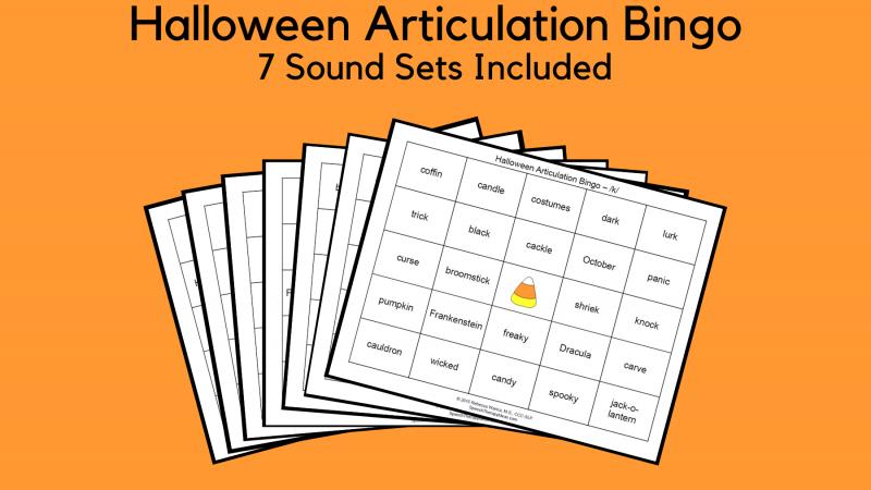 Halloween Articulation Bingo