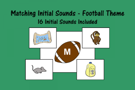 Match Initial Sounds - Football Theme