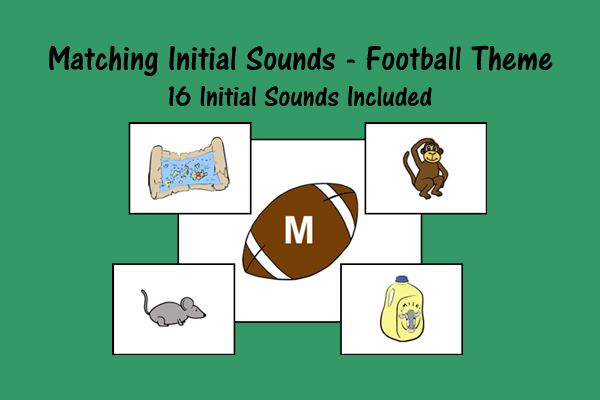 Matching Initial Sounds – Football Theme
