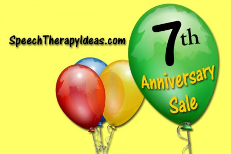 Speech Therapy Ideas 7th Anniversary Sale!
