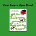 Farm Animals Game Board