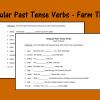 Irregular Past Tense Verbs - Farm Theme