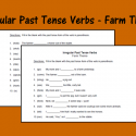 Irregular Past Tense Verbs – Farm Theme