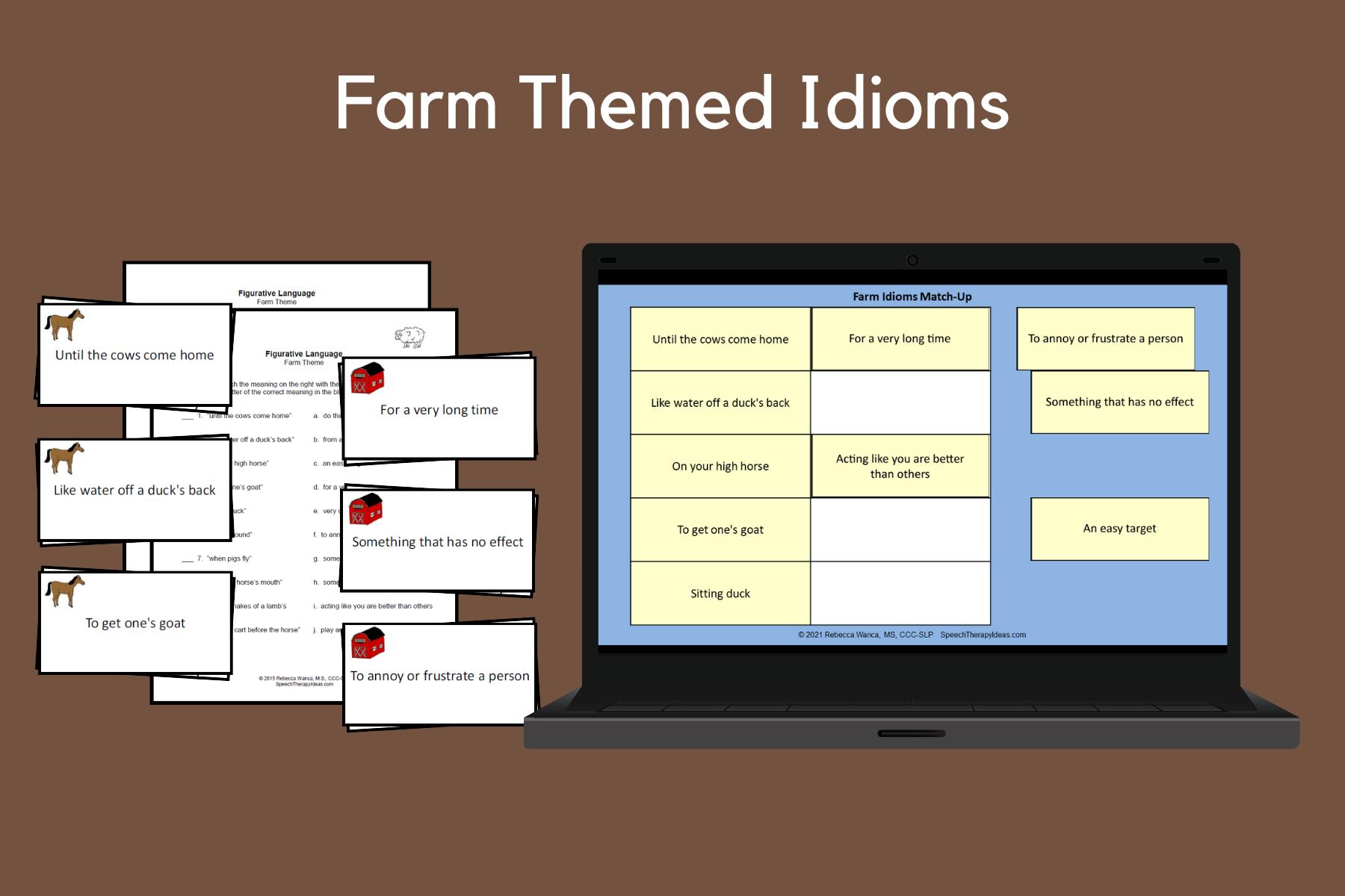 Farm Themed Idioms