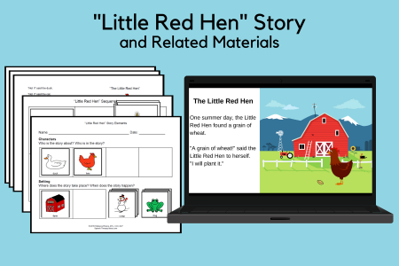 Little Red Hen Story and Related Materials