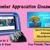 2015 Member Appreciation Giveaway