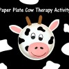 Paper Plate Cow Therapy Activity