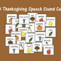 Thanksgiving Speech Sound Cards