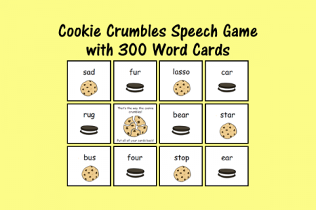Cookie Crumbles Speech Game