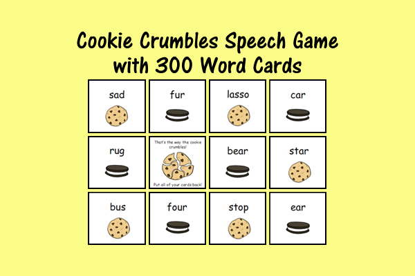 Cookie Crumbles Speech Game For /s/ And /r/