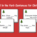 Fill In The Verb Sentences For Christmas