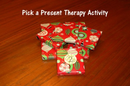 Pick a Present Therapy Activity