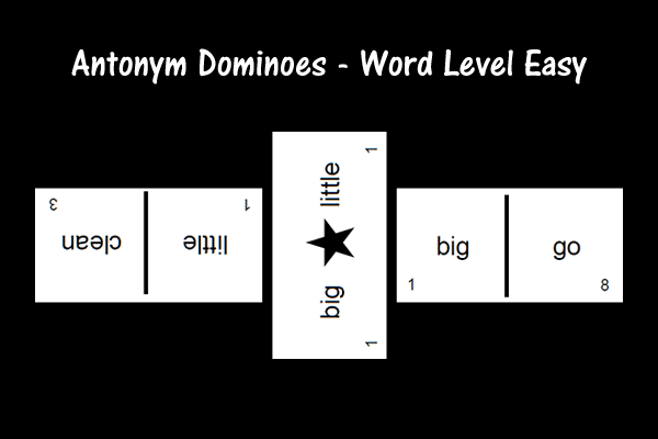 Antonym Dominoes – Word Level Easy