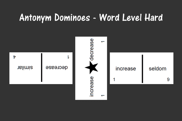 Antonym Dominoes – Word Level Hard