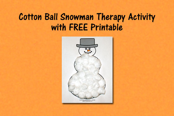Cotton Ball Snowman Activity With FREE Printable