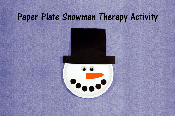 Paper Plate Snowman Therapy Activity
