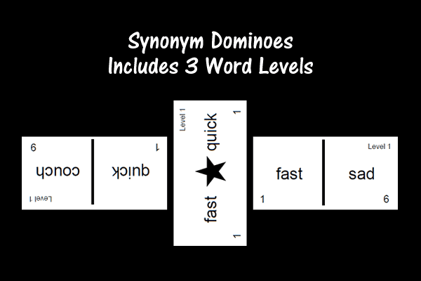 Synonym Dominoes – Includes 3 Word Levels