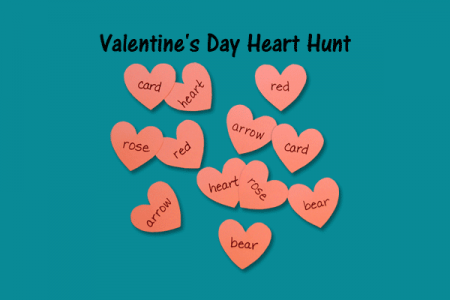 Valentine\'s Day Heart Hunt | Speech Therapy Ideas