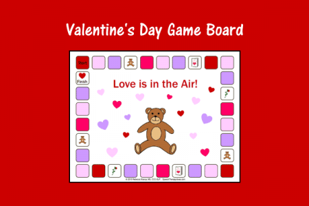 valentines day game board - Valentines Day Game