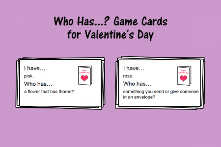 Who Has...? Game Cards for Valentine's Day