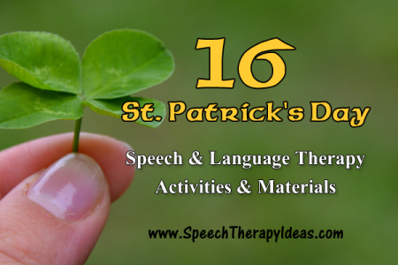 16 St. Patrick's Day Speech & Language Therapy Activities & Materials