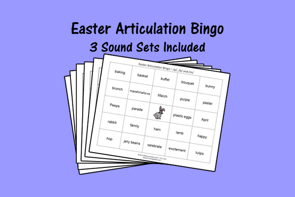 Easter Articulation Bingo