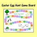 Easter Egg Hunt Game Board