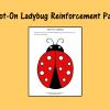Spot-On Ladybug Reinforcement Page