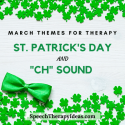 March Themes For Speech And Language Therapy