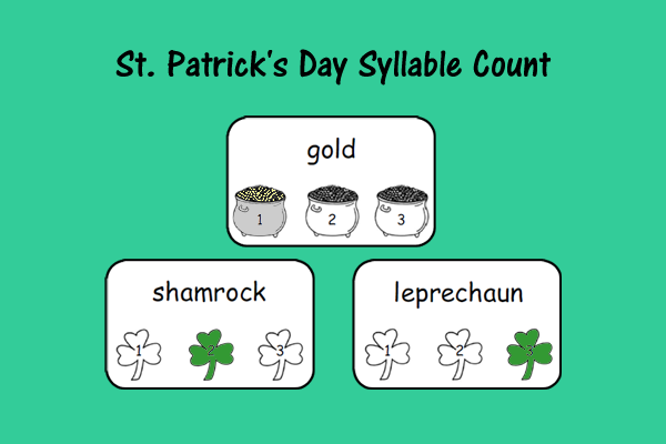St. Patrick's Day Syllable Count