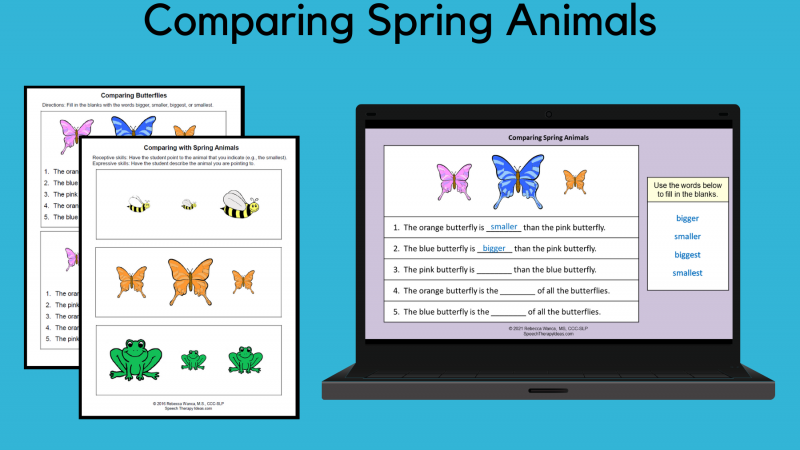 Comparing Spring Animals