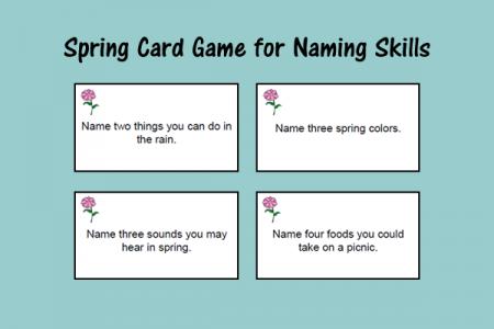 Spring Card Game for Naming Skills
